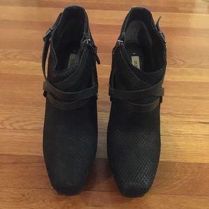 Guess Shoes - Black Guess Leather Bootie